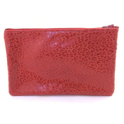 Leather makeup case 'Frandi'red (leopard).