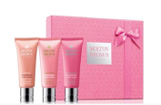 Molton Brown Gift set box Rhubarb and Rose Hand Cream Trio 3 x 40ml Full size