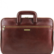 Tuscany Leather Caserta - Document Leather briefcase Brown