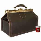 BARON of MALTZAHN Doctors Bag - Mens Top-Handle bag HIPPOCRATES brown leather - Made in Germany