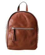 Women Backpack Bag Genuine Italian Leather Soft Smooth Designer Style in Brown