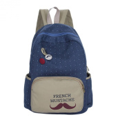 Amur Leopard Women's French Moustache Buttons Fabric Backpack