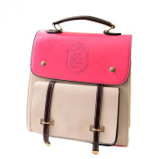 Amur Leopard Women's Candy Coloured PU Leather Backpack