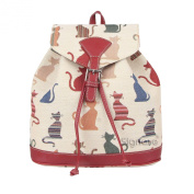 Signare Women's Small Backpack Rucksack Fashion Bags Cheeky Cat