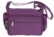 ASPEN LIGHTWEIGHT TRAVEL TOP ZIP NEOPRENE WETSUIT MATERIAL CROSSBODY HANDBAG NP9197