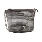 Kerr Fabric & PU Handbag w/Metal Chain