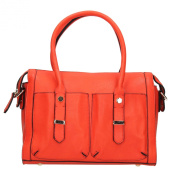 Martha Twin Pocket Ladies Deisgner Womens Faux Leather Smart Handbag -- SWANKYSWANS