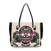 Loungefly Black/Pink Sugar Skull Tote