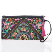 DGOO® Vintage Women Handmade Cotton Blend indian Embroidered Clutch Bag National Wrap cell Phone Coin Handbag