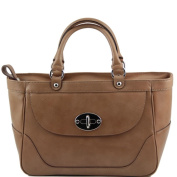 Tuscany Leather - TL NeoClassic - Lady leather handbag Tobac - TL141226/78