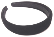 Allsorts® Black Padded 2.5cm Velvet Aliceband Headband Ladies Girls Hair Bands
