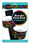 Melissa & Doug Bracelet Scratch Art Party Pack