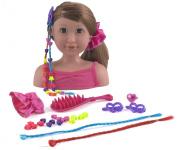 Dolls World Megan Styling Head Brunette