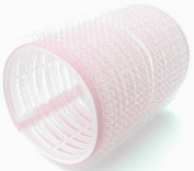 Hair Tools hook and loop Cling Hair Rollers - Large Pink 44 mm x 12