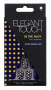 Elegant Touch Trend Adorned Nails, In the Navy