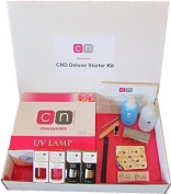 Hot Pink & Wildfire 2 Colour CND Shellac Deluxe 14 Item Nail Starter Kit