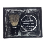 Taylors of Old Bond Street Jermyn Street Shaving Cream 60ml and Artamis 18mm Knot Mixed Badger Brush Gift Set