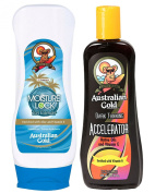 Australian Gold Dark Tanning Accelerator Lotion 250ml & Australian Gold Moisture Lock 237ml