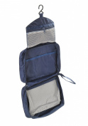 Travel Bag Toiletries, with hook to hang to the wall in the shower, 25cm x 17cm x 9cm, multi compartment design, darkblue, Mod. Wellhouse J-00171-DARKBLUE