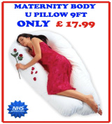 2.7m U / V BODY MATERNITY / PREGNANCY PILLOW SUPPORT BACK, NURSING, FEEDING