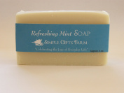 Refreshing Mint Bar Soap by Simple Gifts Farm