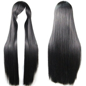 Topbill Black Long Straight Anime Supia-Yisol Cosplay Wigs 80cm