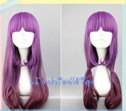 60cm Long Multi Purple Ombre Colour Beautiful Lolita Cosplay Anime Wig, Costume Wigs for Party UF028