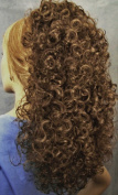 BONNIE Curly Banana Clip Hairpiece 12 Light Golden Brown