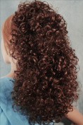 BONNIE Curly Banana Clip Hairpiece by Mona Lisa 33 Dark Auburn