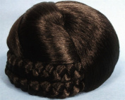 BLISS Dome Wiglet Chignon Bun Hairpiece 8 Chestnut Brown