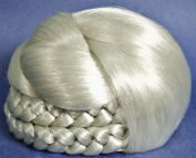 BLISS Dome Wiglet Chignon Bun Hairpiece Grey 60-Silver White