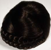 BLISS Dome Wiglet Chignon Bun Hairpiece by Mona Lisa 4 Dark Brown