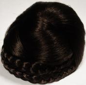 BLISS Dome Wiglet Chignon Bun Hairpiece by Mona Lisa 4 Dark Brown
