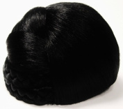 BLISS Dome Wiglet Chignon Bun Hairpiece by Mona Lisa 1B Black