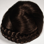 BLISS Dome Wiglet Chignon Bun Hairpiece 6 Dark Chestnut Brown