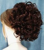 PHOEBE Clip On Hairpiece by Mona Lisa 33 Dark Auburn