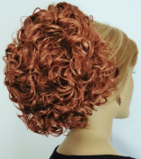 PHOEBE Clip On Hairpiece by Mona Lisa 27A Strawberry-Copper Blonde