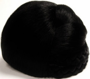 BLISS Dome Wiglet Chignon Bun Hairpiece by Mona Lisa 1-Jet Black
