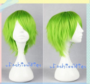 35cm Green Kidou Senshi Gundam 00 Ribbons Almark Light Cosplay Wigs, Costume Wigs for Party UF072