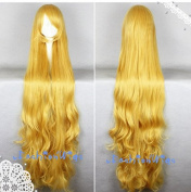 2015 Mermaid Long Golden Wigs, Anime Cosplay Wig ,Costume Wig UF018
