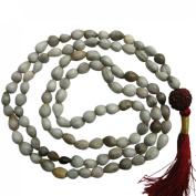 Odishabazaar White Vaijanti Mala Beads for Vashikaran Attraction and Devi Siddhi