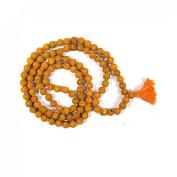 Odishabazaar Haldi Mala Baglamukhi Mala Turmeric (Haldi) Mala 108+1 Beads Turmeric Rosary