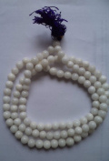 Odishabazaar White Jade Japa Mala for Removing Inner Doshas Awakening Chakras