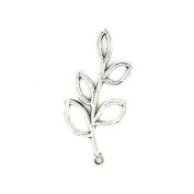 15pcs 40x20mm Antique Silver Lovely Filigree Tree Five Leaves Charm Pendant C2495