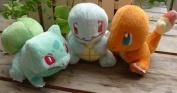 13cm 3 Pcs/set Pokemon Plush Bulbasaur, Sharmander & Squirtle Plush Anime Doll Stuffed Animals Cute Soft Collection Toy Best Gift for Kids