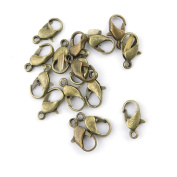 Price per Lot 300 Pieces Antique Bronze Jewellery Making Charms Findings Supplies Craft Schmuckteile 21177 Lobster Clasps