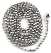 Tierracast Military Ball Chain Necklace 2.4mm - Silver Stainless Steel 30""