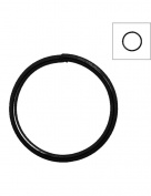 FreshHear Pack of 315 Open Jump Rings Shape Round Colour Black 10x10x0.7 Outside Diameter 10mm