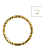 FreshHear Pack of 390 Open Jump Rings Shape Round Colour Gold 9x9x0.7 Outside Diameter 9mm