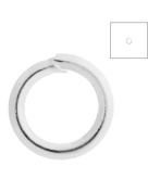 FreshHear Pack of 810 Open Jump Rings Shape Round Colour Silver 4x4x0.7 Outside Diameter 4mm